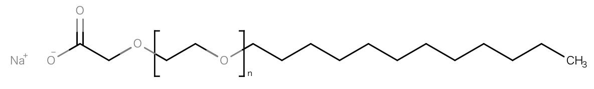 酸性石けんと呼ばれる洗浄剤・アニオン界面活性剤。石けんといっても分類的には陰イオン界面活性剤であるが、使用感が石けんに似ているさっぱり系。石けんと違い酸性側でも安定して洗浄効果、起泡性を得られる。そして、肌に低刺激。