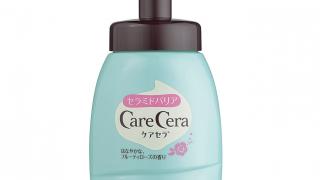 ロート製薬 ケアセラ 天然型セラミド7種配合 セラミド濃度10倍泡の高保湿 全身ボディウォッシュ フルーティローズの香り